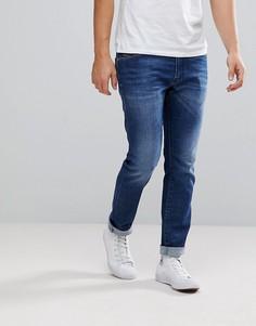 Выбеленные синие джинсы Diesel Thommer - Синий