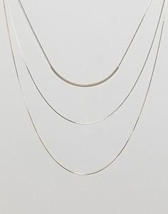 Ожерелье ограниченной серии в несколько рядов - Золотой Asos