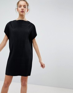 Плиссированное платье Weekday - Черный