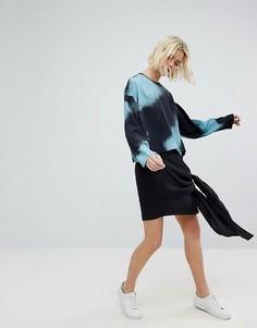 Асимметричная каскадная юбка Weekday - Черный