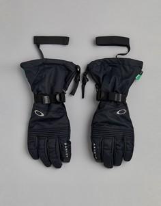 Черные горнолыжные перчатки с показателем водонепроницаемости 10k Oakley - Черный