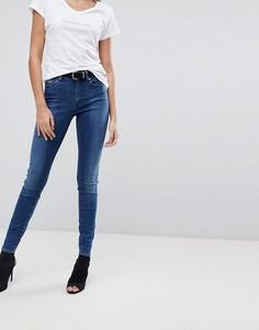 Супероблегающие джинсы с завышенной талией G-Star G-Heart - Синий