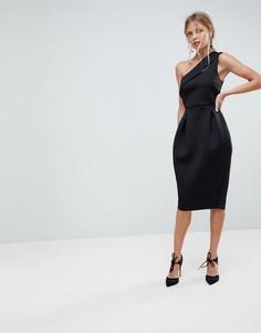 Платье-тюльпан для выпускного на одно плечо ASOS - Черный