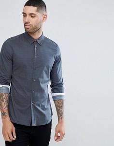 Темно-синяя зауженная рубашка PS Paul Smith - Темно-синий