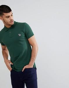 Зеленое поло узкого кроя с логотипом-зеброй PS Paul Smith - Зеленый