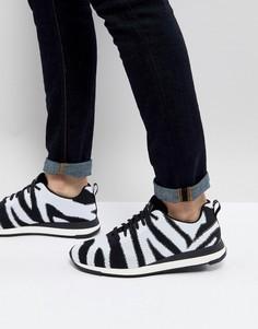 Кроссовки с зебровым принтом PS Paul Smith Rappid - Мульти