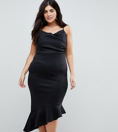 Платье миди на бретелях ASOS CURVE - Черный