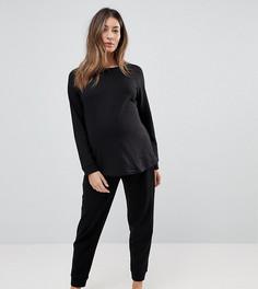 Удлиненный свитшот и джоггеры ASOS Maternity - Черный
