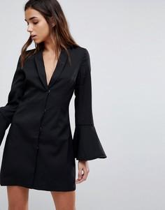 Платье-блейзер с рукавами-колокол Missguided - Черный