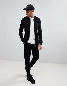Черный спортивный костюм обтягивающего кроя ASOS - Черный