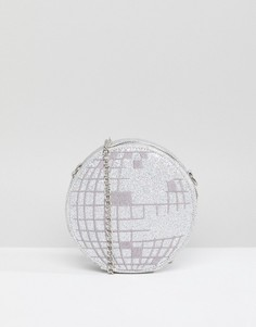 Сумка через плечо в виде диско-шара Skinnydip - Серебряный