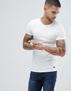 Белая обтягивающая футболка Blend - Белый