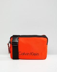 Сумка через плечо с логотипом Calvin Klein - Оранжевый