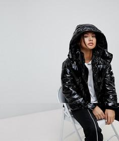 Дутая виниловая куртка Noisy May - Черный