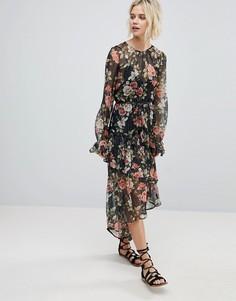 Асимметричное платье с цветочным принтом Rahi Cali - Мульти