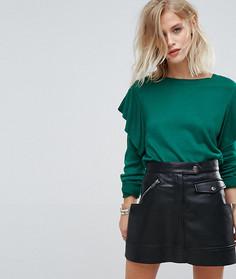 Джемпер с оборками на рукавах Only - Зеленый