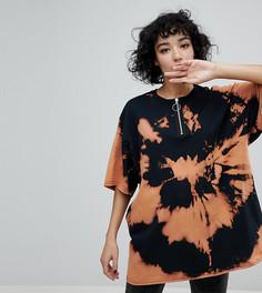 Пляжная футболка с массивной молнией Reclaimed Vintage Inspired - Черный