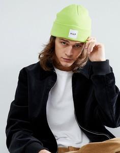 Зеленая шапка-бини с логотипом HUF - Зеленый