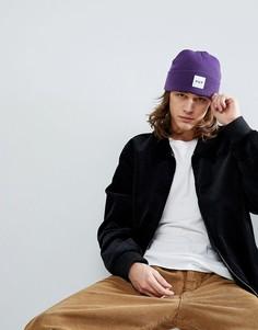 Фиолетовая шапка-бини с логотипом HUF - Фиолетовый