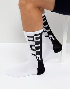 Белые носки с логотипом HUF - Белый