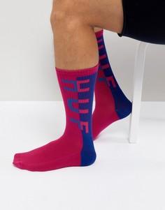 Розовые носки с логотипом HUF - Розовый