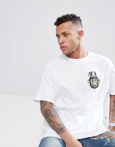 Свободная футболка с принтом обезьяны HNR LDN - Белый Honour