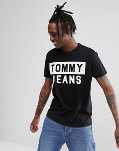 Черная футболка с крупным логотипом Tommy Jeans - Черный Hilfiger Denim