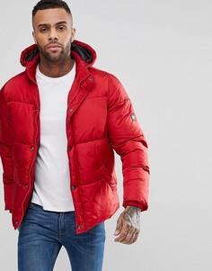 Дутое пальто с капюшоном Puffa - Красный