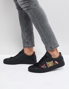 Черные кроссовки с вышитым тигром Good For Nothing - Черный