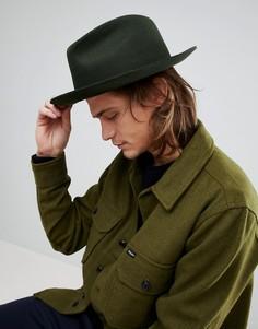 Мягкая фетровая шляпа Brixton - Зеленый