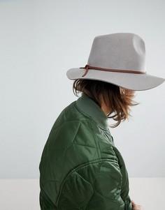 Мягкая фетровая шляпа Brixton - Светло-бежевый