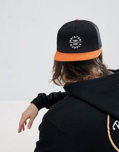 Бейсболка с логотипом Brixton Oath - Черный