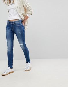 Джинсы скинни с классической талией Pepe Jeans Pixie - Синий
