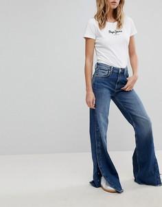 Широкие джинсы с завышенной талией Pepe Jeans Maxa - Синий