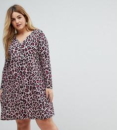 Чайное платье с пуговицами Pink Clove - Мульти