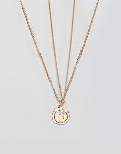 Ожерелье в несколько рядов с подвеской в форме звезды Pieces - Золотой
