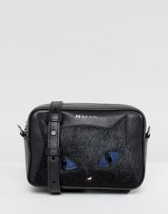 Сумка через плечо с отделкой в виде кота PS by Paul Smith - Черный