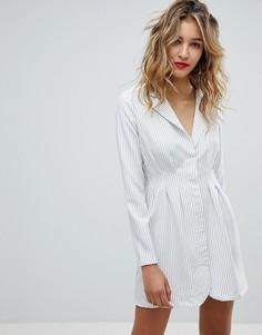 Платье-блейзер в полоску Missguided - Белый