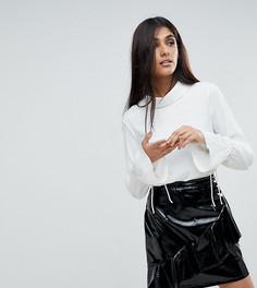 Блузка с завязками на манжетах Vero Moda Tall - Белый