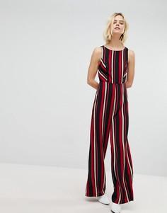 Комбинезон в полоску с широкими штанинами New Look - Черный