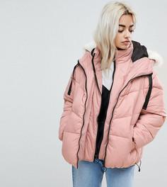 Дутая куртка с двухслойным эффектом River Island Petite - Розовый