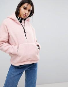 Куртка из искусственного меха с капюшоном Noisy May - Розовый