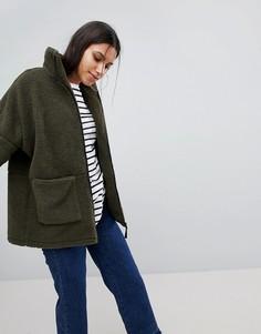 Куртка на молнии Noisy May - Зеленый