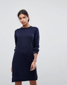 Вязаное платье-джемпер Selected Femme - Темно-синий