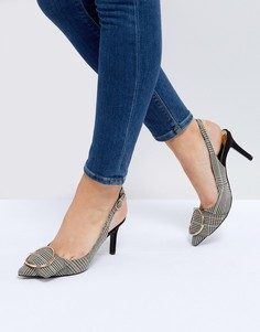 Туфли в клетку на каблуке River Island - Мульти