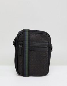 Черная сумка для авиапутешествий с геометрическим рисунком River Island - Черный