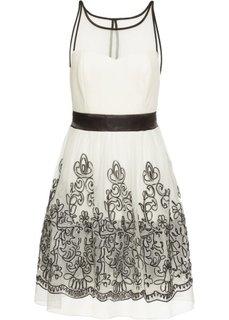 Коктейльное платье (кремовый/черный) Bonprix