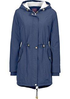 Куртка-парка с подкладкой из плюшевого флиса (темно-синий) Bonprix