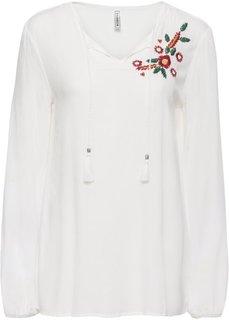 Блузка с вышивкой (кремовый) Bonprix