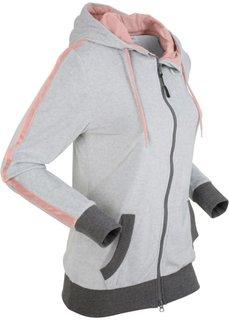 Куртка из плюша (светло-серый меланж) Bonprix